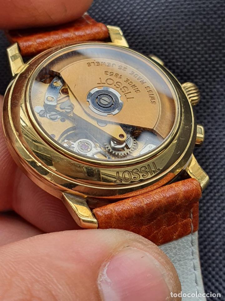 Relojes - Tissot: Reloj Tissot Chronograph oro sólido 18k, funciona perfectamente - Foto 12 - 274406543