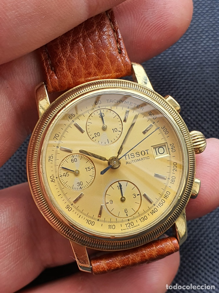 RELOJ TISSOT CHRONOGRAPH ORO SÓLIDO 18K, FUNCIONA PERFECTAMENTE (Relojes - Relojes Actuales - Tissot)