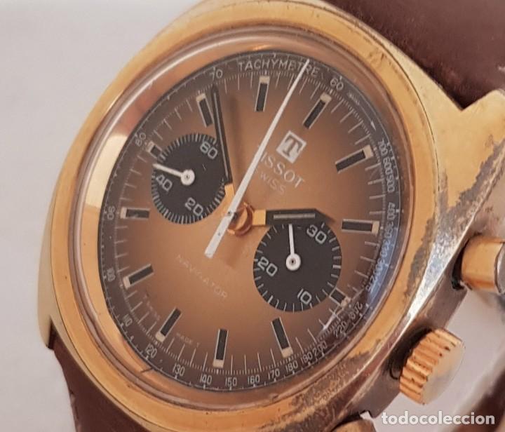 RARO TISSOT NAVIGATOR CRONOCALIBRE 872 LEMANIA 1277 38MM FUNCIONANDO REF 40521 (Relojes - Relojes Actuales - Tissot)