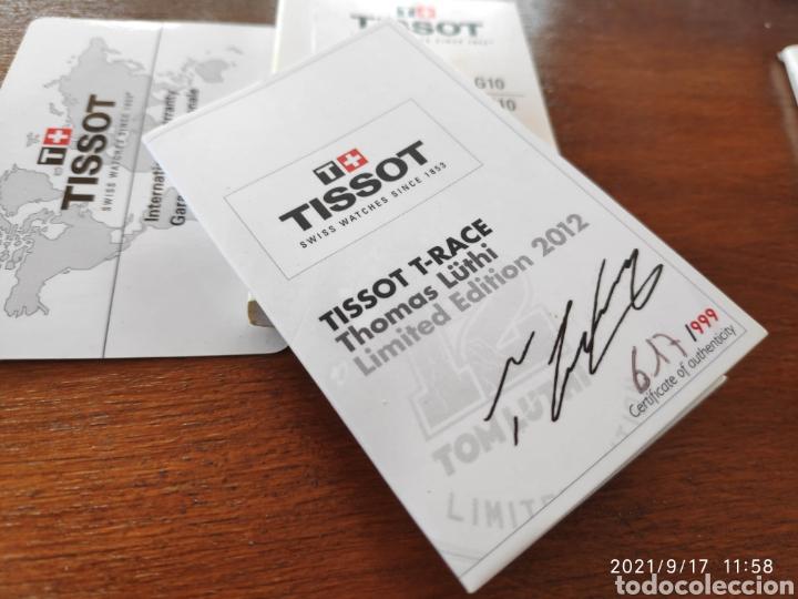 Relojes - Tissot: Pieza única Caja casco tissot t-race 2012 firmado autografo original Thomas Tom luthi moto gp - Foto 2 - 288004468