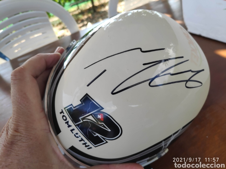 Relojes - Tissot: Pieza única Caja casco tissot t-race 2012 firmado autografo original Thomas Tom luthi moto gp - Foto 4 - 288004468
