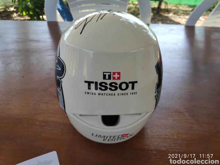 Relojes - Tissot: Pieza única Caja casco tissot t-race 2012 firmado autografo original Thomas Tom luthi moto gp - Foto 5 - 288004468