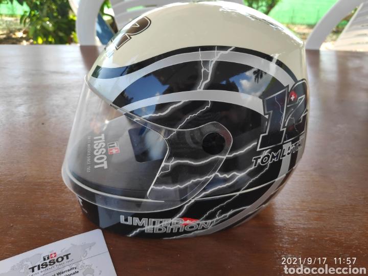 Relojes - Tissot: Pieza única Caja casco tissot t-race 2012 firmado autografo original Thomas Tom luthi moto gp - Foto 7 - 288004468