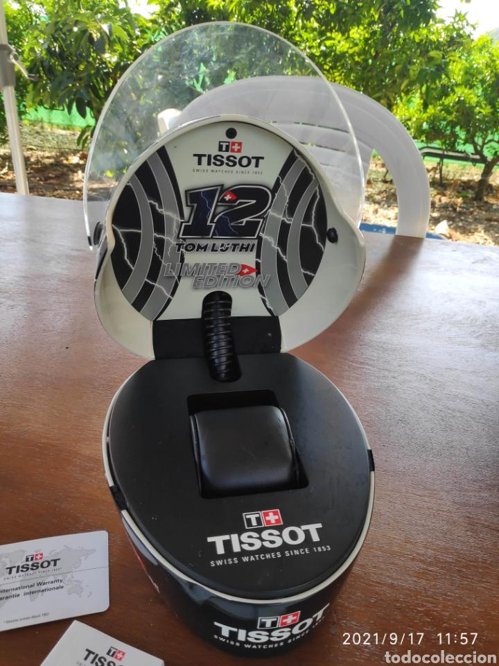 Relojes - Tissot: Pieza única Caja casco tissot t-race 2012 firmado autografo original Thomas Tom luthi moto gp - Foto 9 - 288004468