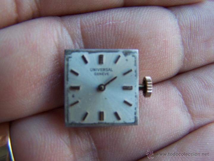 RELOJ UNIVERSAL GENEVE MAQUINARIA COMPLETA Y FUNCIONANDO (Relojes - Relojes Actuales - Universal)