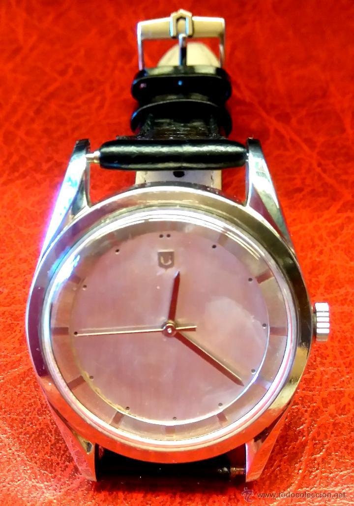 RELOJ PILOTO AVIACION,UNIVERSAL GENEVE POLEROUTER,1950 MODIFICADO EN MAQUINARIA,ESTETICA ORIGINAL. (Relojes - Relojes Actuales - Universal)