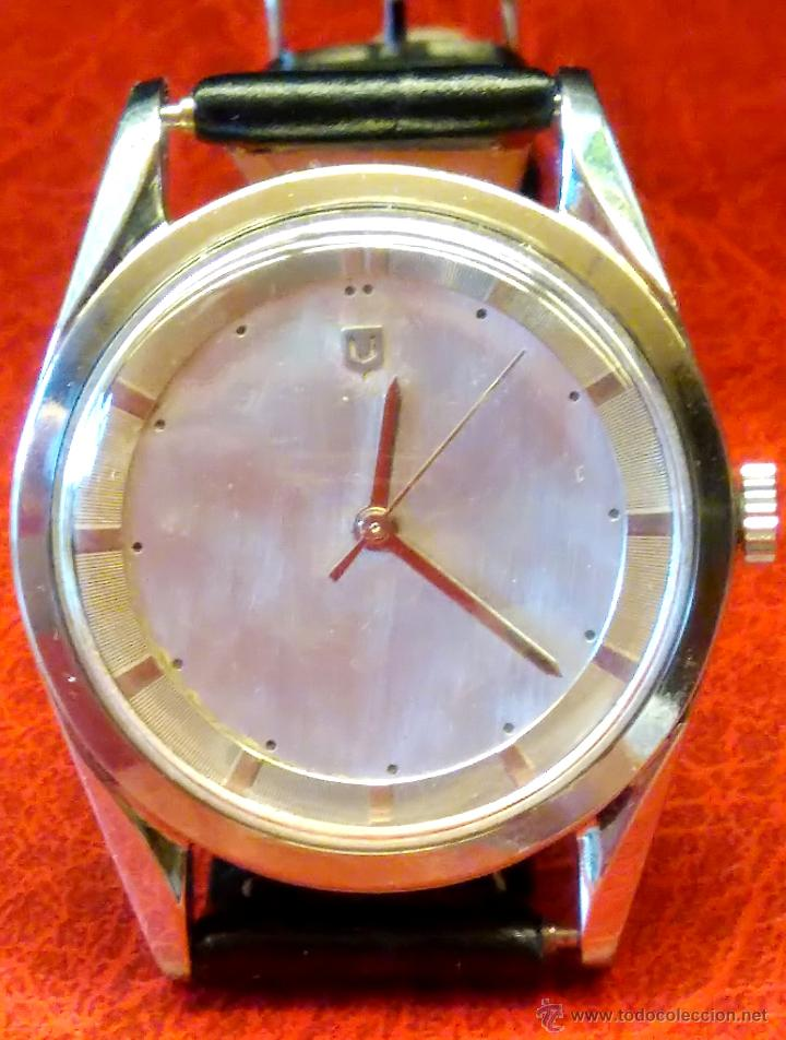 Relojes - Universal: RELOJ PILOTO AVIACION,UNIVERSAL GENEVE POLEROUTER,1950 MODIFICADO EN MAQUINARIA,ESTETICA ORIGINAL. - Foto 2 - 82125583