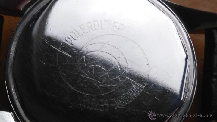 Relojes - Universal: RELOJ PILOTO AVIACION,UNIVERSAL GENEVE POLEROUTER,1950 MODIFICADO EN MAQUINARIA,ESTETICA ORIGINAL. - Foto 10 - 82125583
