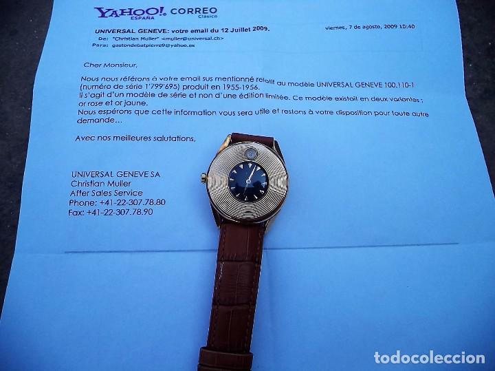 Relojes - Universal: Universal Geneve, automático, Oro macizo de 18 quilates. - Foto 3 - 80662566