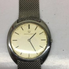 Relojes - Universal: RELOJ UNIVERSAL GENEVE CARGA MANUAL EN ACERO COMPLETO CORONA ORIGINAL EXTRA PLANO EN FUNCIONAMIENTO. Lote 123275382