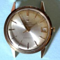 Relojes - Universal: UNIVERSAL GENEVE POLEROUTER. ORO 18K. FUNCIONA. SUIZA. AÑOS 60. Lote 133778474