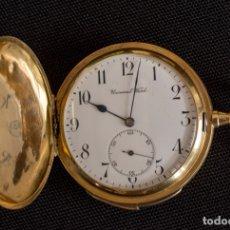 Relojes - Universal: RELOJ UNIVERSAL, DE BOLSILLO CON SONERÍA DE 1/2 HORAS Y CUARTOS. PERFECTO ESTADO. ORO 18 KILATES. Lote 137452154