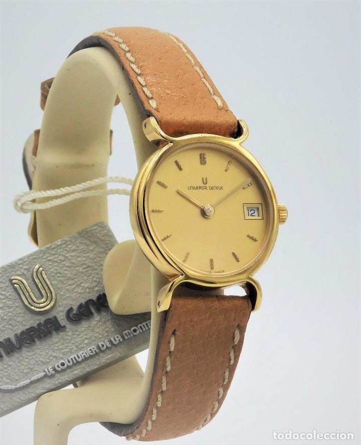 Relojes - Universal: UNIVERSAL GENEVE - FANTASTICO RELOJ DE PULSERA DE DAMA A ESTRENAR- PLAQUÉ ORO AMARILLO 10G - Foto 4 - 139262170