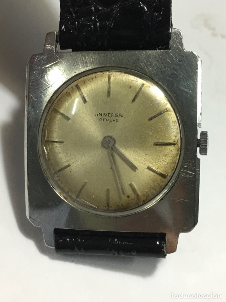 RELOJ UNIVERSAL GENEVE CARGA MANUAL Y CAJA DE ACERO EN FUNCIONAMIENTO (Relojes - Relojes Actuales - Universal)