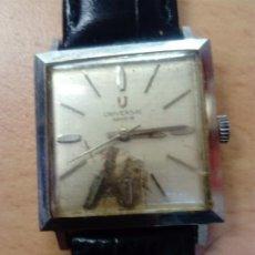 Relojes - Universal: RELOJ UNIVERSAL GENEVE AUTOMÁTICO CUADRADO. Lote 190822236