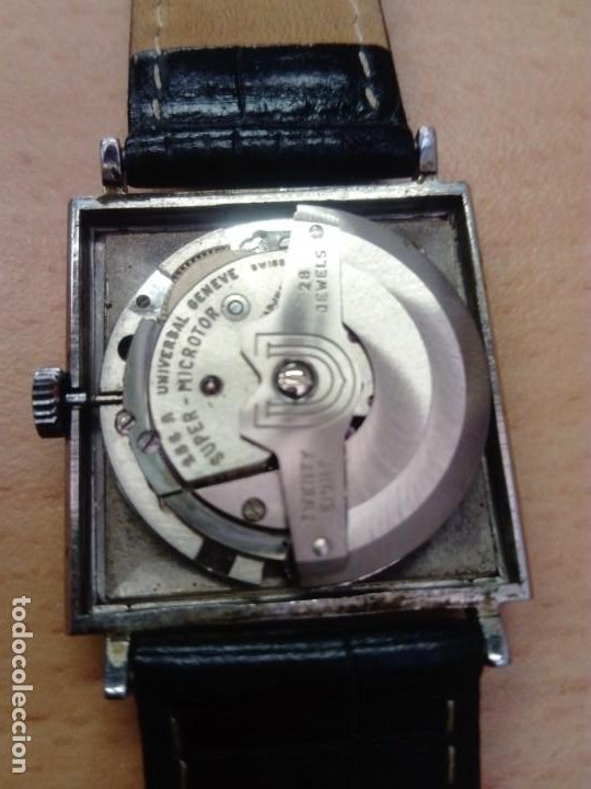 Relojes - Universal: Reloj Universal Geneve Automático Cuadrado - Foto 5 - 190822236