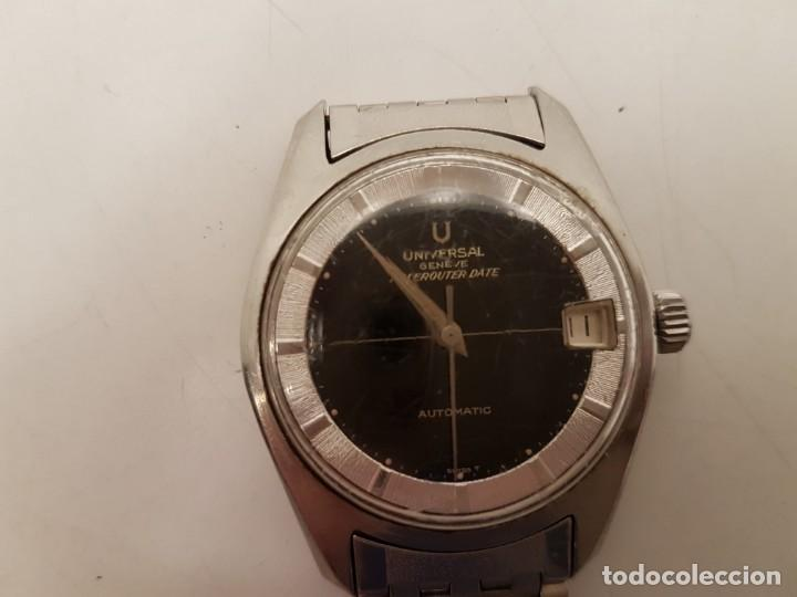 RELOJ UNIVERSAL GENEVE POLEROUTER, (VINTAGE), AUTOMATIC, FUNCIONA (Relojes - Relojes Actuales - Universal)