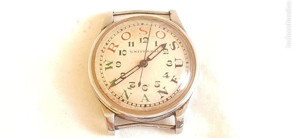 RARISIMA RELOJ ANTIGUA DE UNIVERSAL AÑOS 30 .NO FUNCION Y LE FALTA LA CORONA. MIDE 30MM DIAMETRO. (Relojes - Relojes Actuales - Universal)