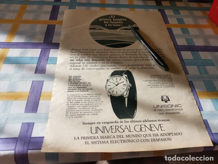 RELOJ UNIVERSAL GENEVE UNISONIC ANUNCIO PUBLICIDAD REVISTA 1969 POSIBLE RECOGIDA EN MALLORCA (Relojes - Relojes Actuales - Universal)