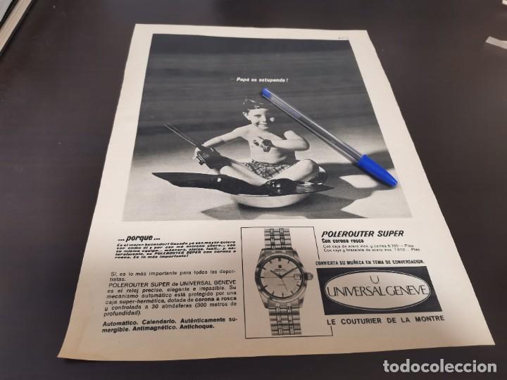 RELOJ UNIVERSAL GENEVE GRAN ANUNCIO PUBLICIDAD REVISTA 1967 ESPECIAL PARA ENMARCAR (Relojes - Relojes Actuales - Universal)