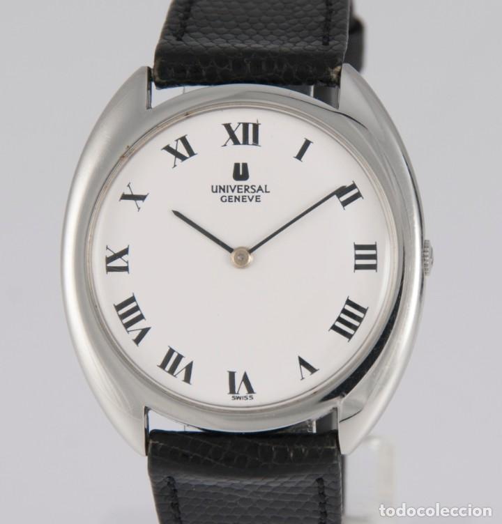 UNIVERSAL GENEVE STEEL 35MM ULTRATHIN 842111 CALIBER 1-42 (Relojes - Relojes Actuales - Universal)