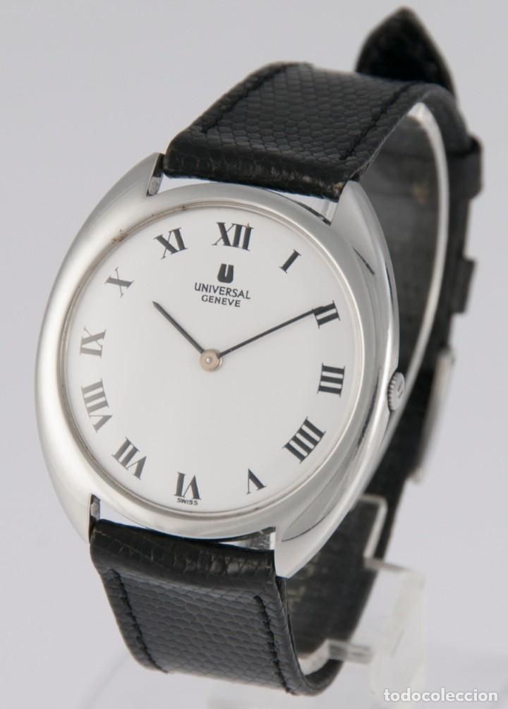 Relojes - Universal: Universal Geneve Steel 35mm Ultrathin 842111 Caliber 1-42 - Foto 2 - 217488213