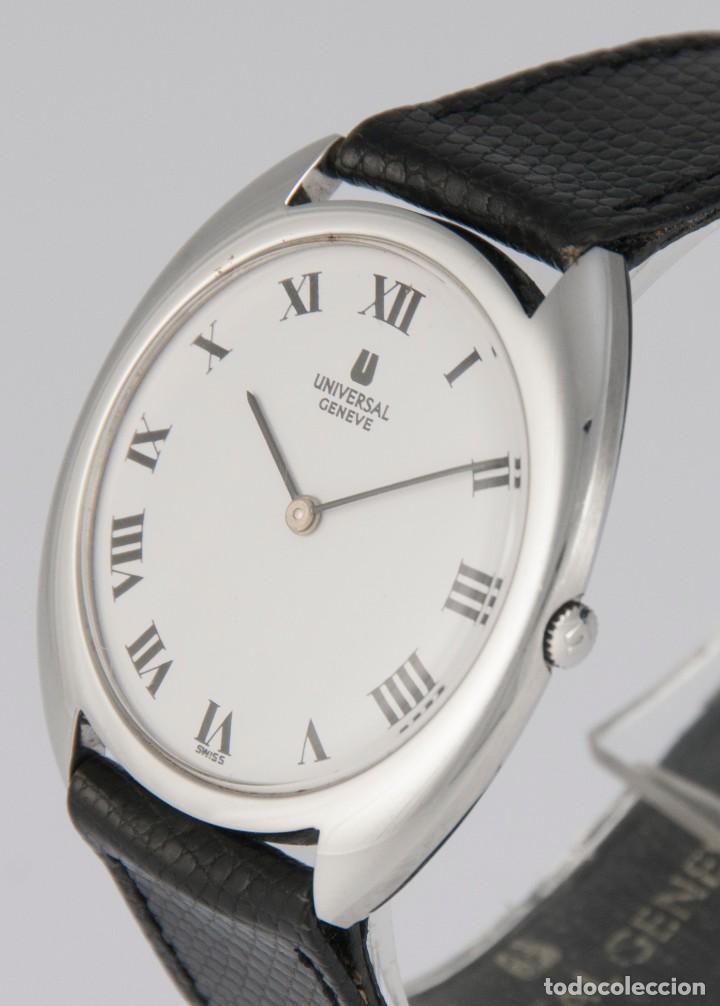 Relojes - Universal: Universal Geneve Steel 35mm Ultrathin 842111 Caliber 1-42 - Foto 3 - 217488213
