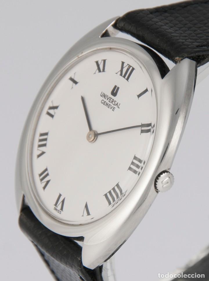 Relojes - Universal: Universal Geneve Steel 35mm Ultrathin 842111 Caliber 1-42 - Foto 5 - 217488213