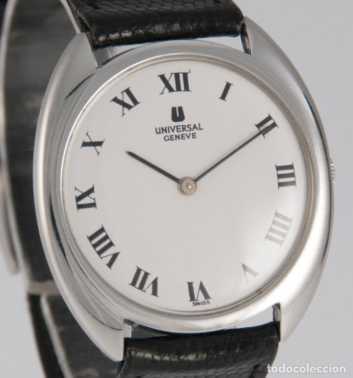 Relojes - Universal: Universal Geneve Steel 35mm Ultrathin 842111 Caliber 1-42 - Foto 7 - 217488213