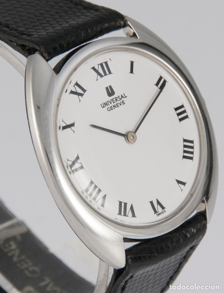 Relojes - Universal: Universal Geneve Steel 35mm Ultrathin 842111 Caliber 1-42 - Foto 8 - 217488213