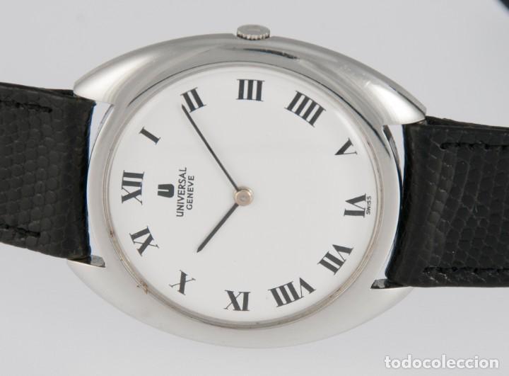 Relojes - Universal: Universal Geneve Steel 35mm Ultrathin 842111 Caliber 1-42 - Foto 13 - 217488213