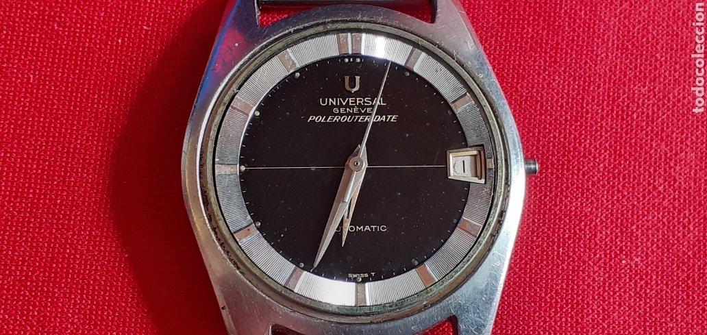 RELOJ UNIVERSAL GENEVE POLEROUTER DATE MICROTOR AUTOMATICO.MIDE 35 MM DIAMETRO .FALTA LA CORONA (Relojes - Relojes Actuales - Universal)