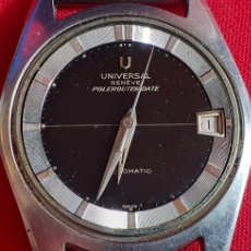 Orologi - Universal: RELOJ UNIVERSAL GENEVE POLEROUTER DATE MICROTOR AUTOMATICO.MIDE 35 MM DIAMETRO .FALTA LA CORONA. Lote 221368025