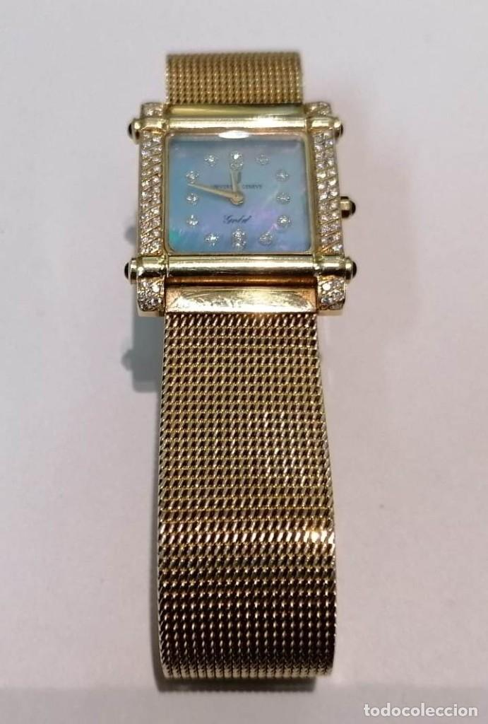 Relojes - Universal: precioso reloj de oro 18kt Universal Geneve con brillantes y zafiros - 69,20grs - Foto 2 - 222330532