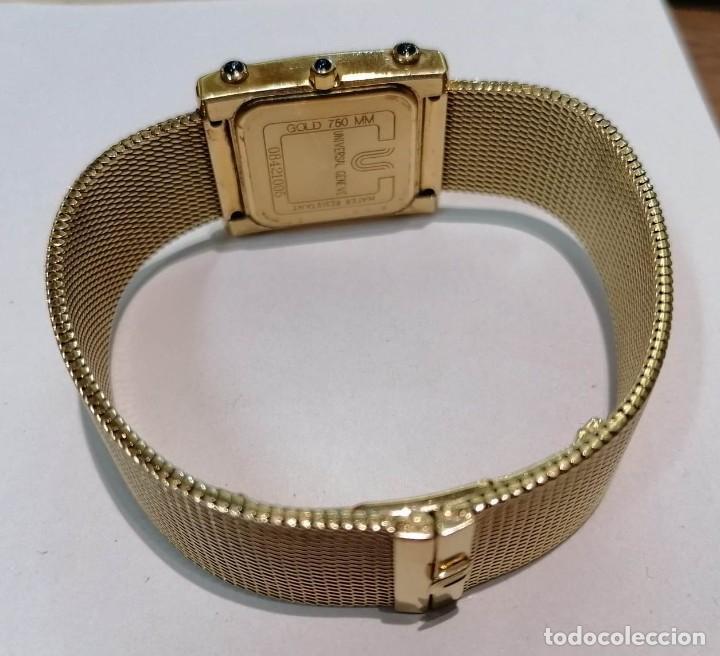 Relojes - Universal: precioso reloj de oro 18kt Universal Geneve con brillantes y zafiros - 69,20grs - Foto 3 - 222330532