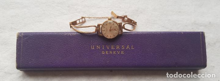 UNIVERSAL GENEVE MECANICO DE DAMA CHAPADO EN ORO REVISADO MANUFACTURA CON CAJA ORIGINAL (Relojes - Relojes Actuales - Universal)