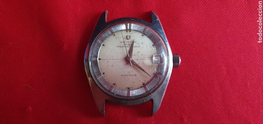 RELOJ UNIVERSAL GENEVE POLEROUTE DATE AUTOMATIC .MIDE 35MM DIAMETRO FUNCIONA Y PARA (Relojes - Relojes Actuales - Universal)