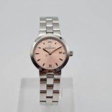 Relojes - Universal: UNIVERSAL GENEVE LADY 818-611 ROSA QUARTZ ACERO. Lote 225869690