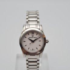 Relojes - Universal: UNIVERSAL GENEVE LADY 818-610 BLANCO QUARTZ ACERO. Lote 227858390