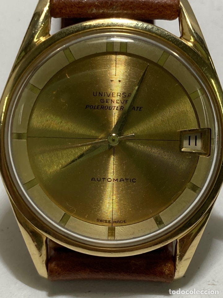 RELOJ UNIVESAL GENEVE POLEROUTER DATE EN ORO 18KL (Relojes - Relojes Actuales - Universal)