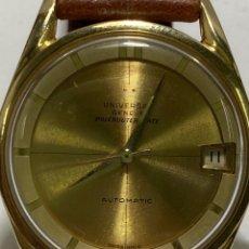 Relojes - Universal: RELOJ UNIVESAL GENEVE POLEROUTER DATE EN ORO 18KL. Lote 267110259