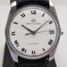 Relojes - Universal: UNIVERSAL GENEVE UNISONIC 852100 DIAPASON ACERO 34MM. Lote 275194893