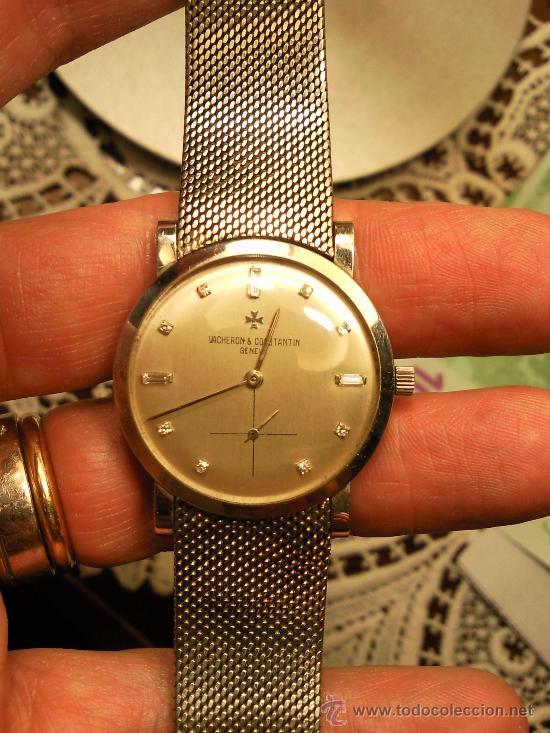 Reloj de Pulsera Vintage manual años 50 Vacheron Constantin caja de Platino y correa de Oro Blanco segunda mano