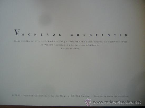 Relojes - Vacheron: libro reloj VACHERON CONSTANTIN GENEVE 1755 pasion relojes complicados - Foto 10 - 30533811