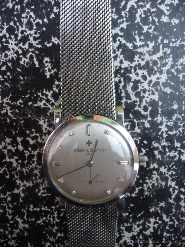 Relojes - Vacheron: Reloj de Pulsera Vintage manual años 50 Vacheron Constantin caja de Platino y correa de Oro Blanco - Foto 2 - 29220663