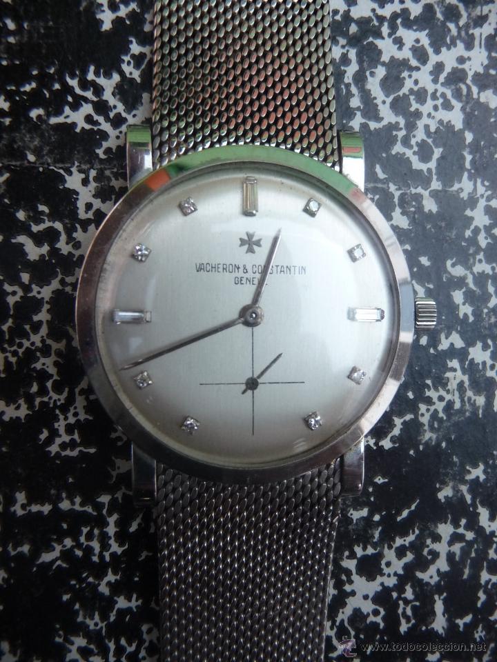 Relojes - Vacheron: Reloj de Pulsera Vintage manual años 50 Vacheron Constantin caja de Platino y correa de Oro Blanco - Foto 3 - 29220663