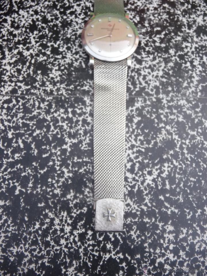 Relojes - Vacheron: Reloj de Pulsera Vintage manual años 50 Vacheron Constantin caja de Platino y correa de Oro Blanco - Foto 5 - 29220663
