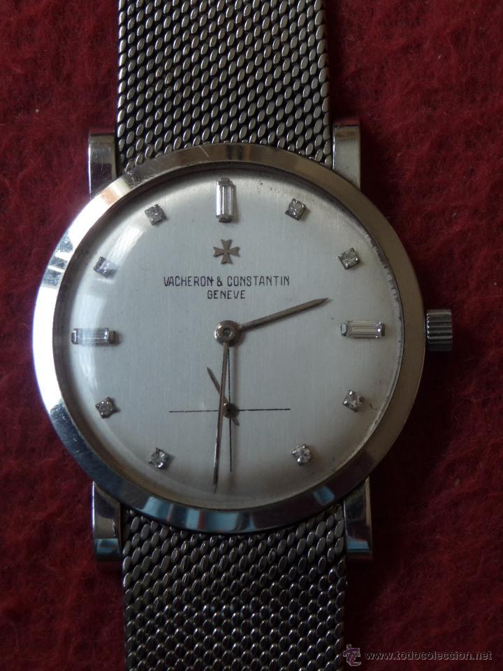 Relojes - Vacheron: Reloj de Pulsera Vintage manual años 50 Vacheron Constantin caja de Platino y correa de Oro Blanco - Foto 6 - 29220663
