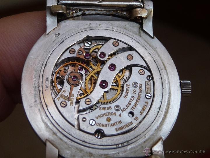 Relojes - Vacheron: Reloj de Pulsera Vintage manual años 50 Vacheron Constantin caja de Platino y correa de Oro Blanco - Foto 12 - 29220663