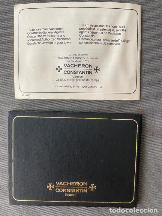 Relojes - Vacheron: vacheron constantin , documentación del reloj , guarantee booklet , 39200 de 1983 - Foto 3 - 210821615